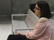 La tuitera Cassandra, el pasado 22 de marzo, en el juicio.