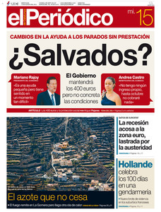 Portada de EL PERIDICO DE CATALUNYA.