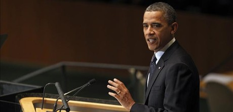 Barack Obama, durante la intervencin en la ONU de este martes.