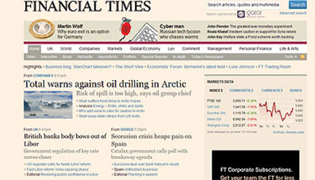 Captura de la web de 'Financial Times'