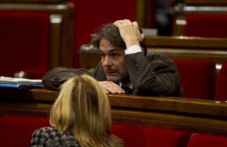 El secretario general de CDC y diputado Oriol Pujol, el pasado 13 de febrero, en el Parlament. ALBERT BERTRAN