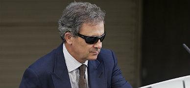 Jordi Pujol Ferrusola, el lunes, a la salida de la Audiencia Nacional.