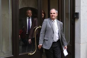 El hasta ahora alcalde de Girona Albert Ballesta, ayer.