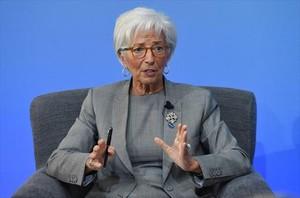 La directora del FMI, Christine Lagarde, en una mesa redonda el pasado mes de mayo.