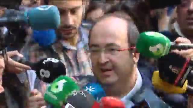 Miquel Iceta llega al comit� federal del PSOE.