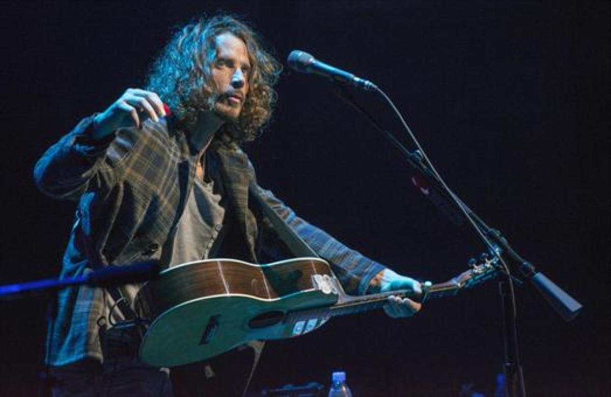 Chris Cornell, durante su última actuación en Barcelona, el 21 de abril del 2014 en el Liceu.