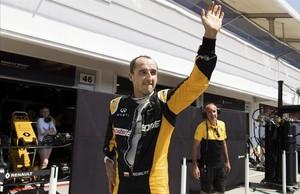 Robert Kubica, durante los test para Renault en Hungaroring el pasado agosto