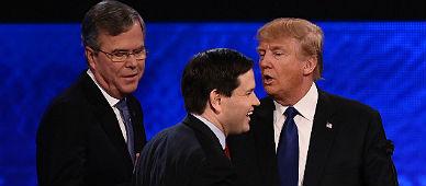 Bush, Rubio y Trump.