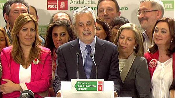"""""""El PSOE ha recuperat bona part de la confian�a que havia perdut en les generals"""", assegura Jos� Antonio Gri��n despr�s dels resultats obtinguts a Andalusia."""