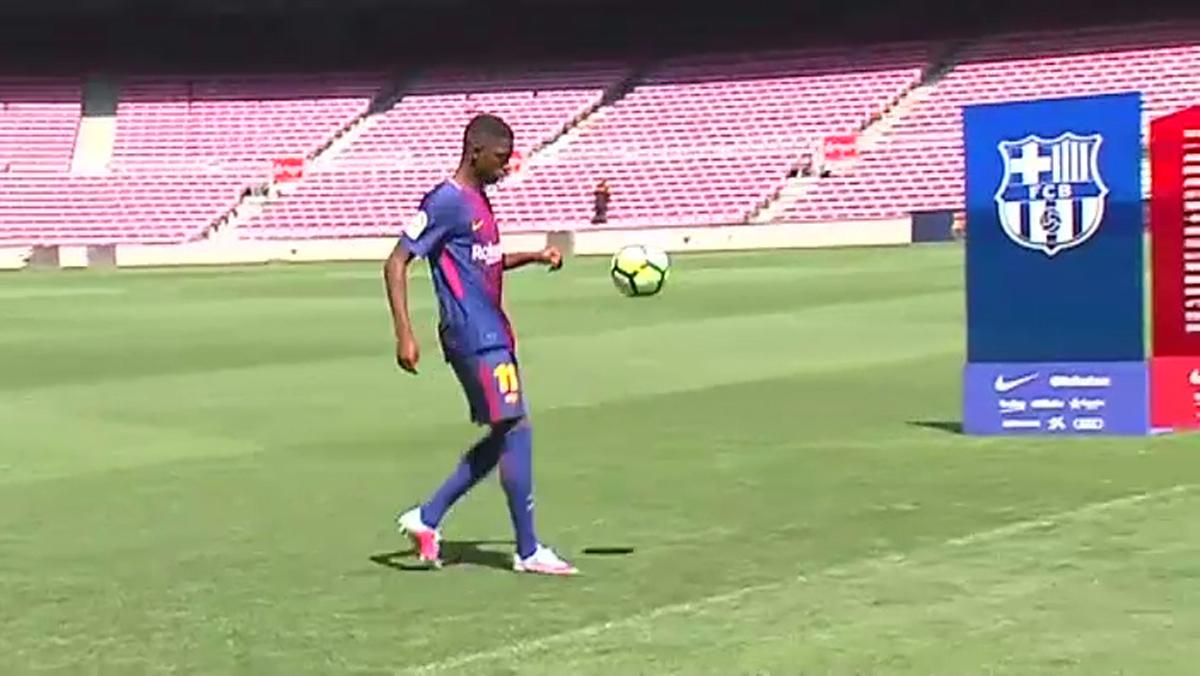 Dembélé ya ejerce como nuevo jugador del BarÇa