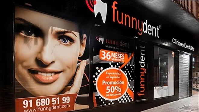 Fachada de unade las clínicas dentales del grupo Funnydent.