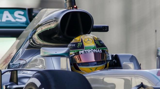 Lewis Hamilton, hoy en los ensayos del GP de Brasil.