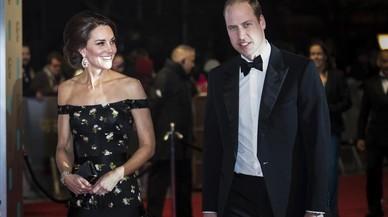 Los duques de Cambridge, a su llegada a los premios Bafta en Londres.