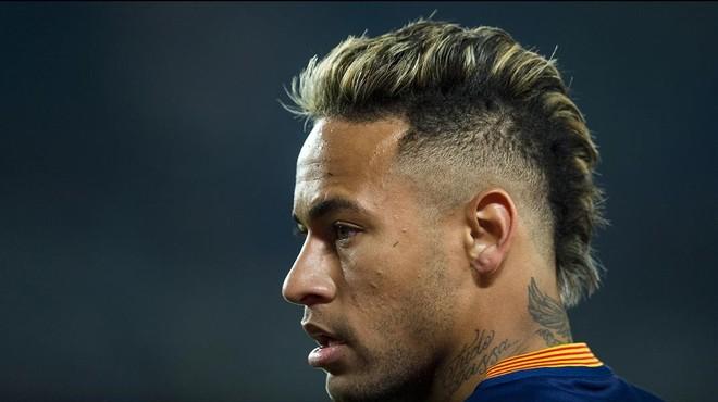 Neymar, en una imagen tomada durante el partido de Copa contra el Athletic, en el Camp Nou.