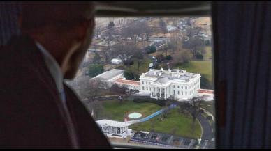 La icónica foto de despedida de la Casa Blanca de Barack Obama