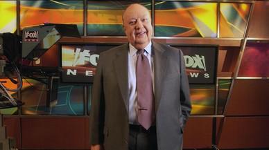 El expresidente del canal de noticias Fox, Roger Ailes, en el estudio de Fox News.