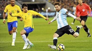L'Argentina de Messi venç el Brasil en el debut de Sampaoli