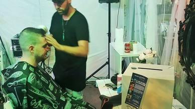 Ramón, el perruquer solidari de l''Open Night Santa Coloma' que va recaptar fons contra la leucèmia