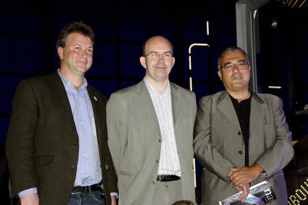 Ewan Birney, coordinador del proyecto Encode; Tim Hubbard, investigador del Wellcome Trust Sanger Institute, y el catalán Roderic Guigó, del Centro de Regulación Genómica de Barcelona.