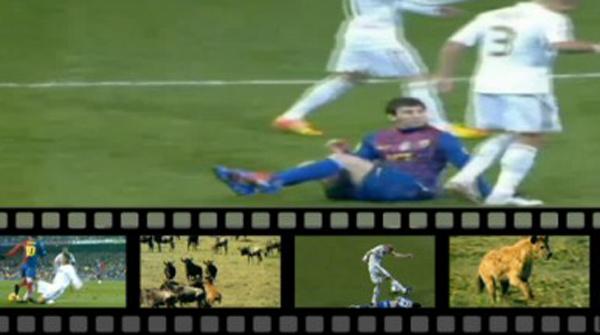 Un v�deo de TVC compara a los jugadores del Madrid con hienas.
