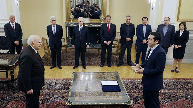 Tsipras toma posesi�n como nuevo primer ministro griego
