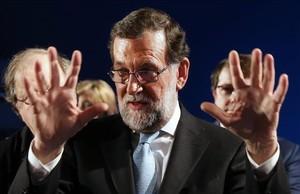El presidente del Gobierno en funciones, Mariano Rajoy, en un acto del PP en Valladolid, el pasado viernes.