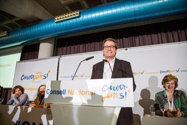 El expresidente de la Generalitat Artur Mas, en una imagen del pasado febrero, en el consejo nacional de CDC en Bellaterra.