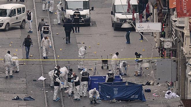 Cinco muertos en un atentado suicida en Estambul