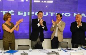 Mariano Rajoy presidie el Comite ejecutivo del Partido Popular