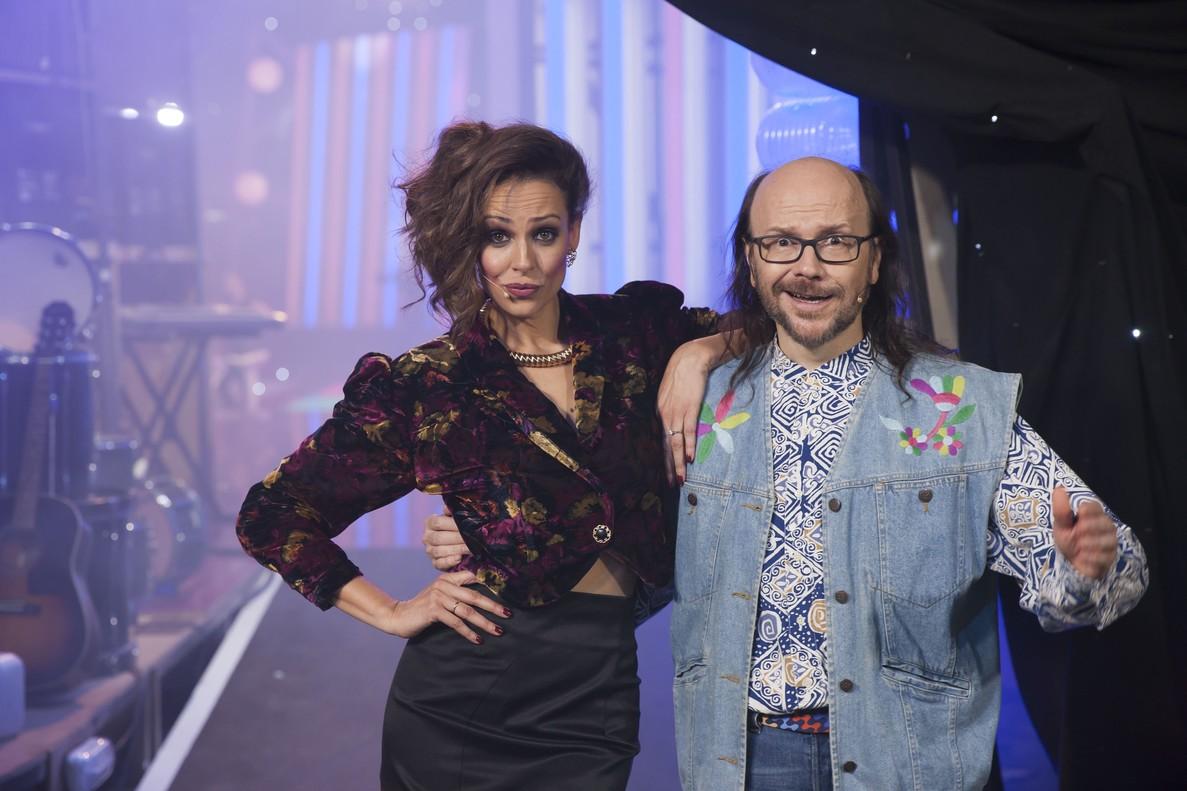 Eva González y Santiago Segura, en '¡Feliz 2017!'