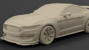 coche ford 3D