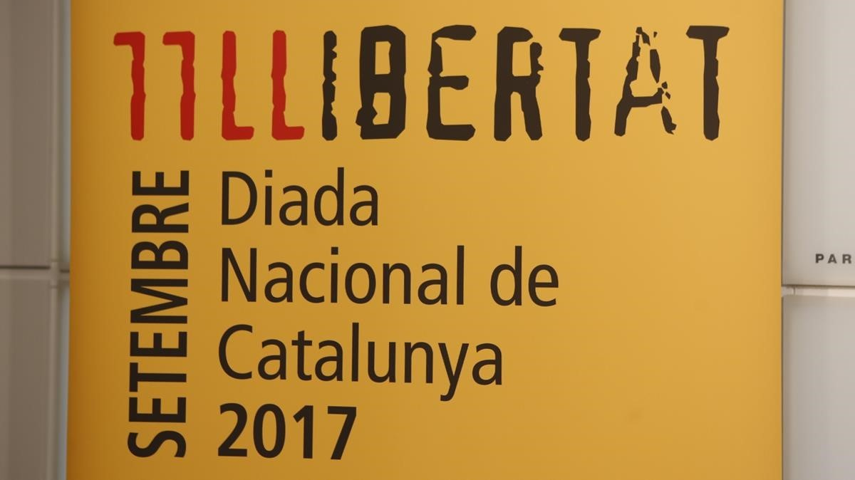 Cartell institucional de la Diada.