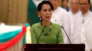 monmartinez39974401 myanmar state counselor aung san suu kyi talks during a news170906111736