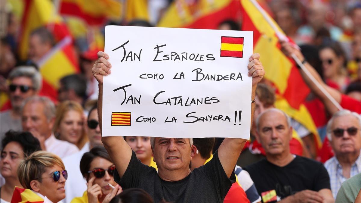Imágenes de la manifestación no Independentista