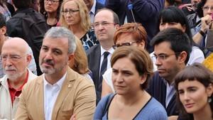 Ada Colau y Miquel Iceta en una acto de homenaje a Salvador Allende, en una imagen de archivo.