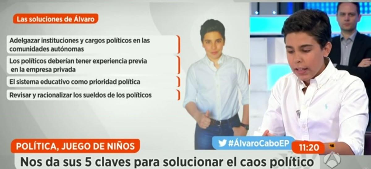 Un niño deja boquiabierta a la mesa política de Espejo Público