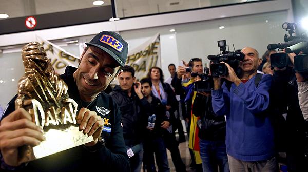 Nani Roma celebra el doblet del Dakar amb tots els seus