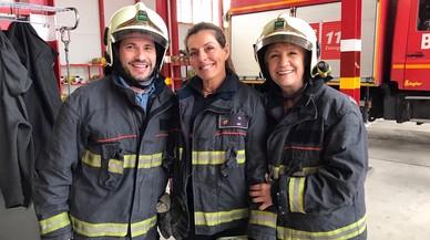 David DeMaría, Eva Araujo y Blanca Portillo, en el programa 'Ellas'.