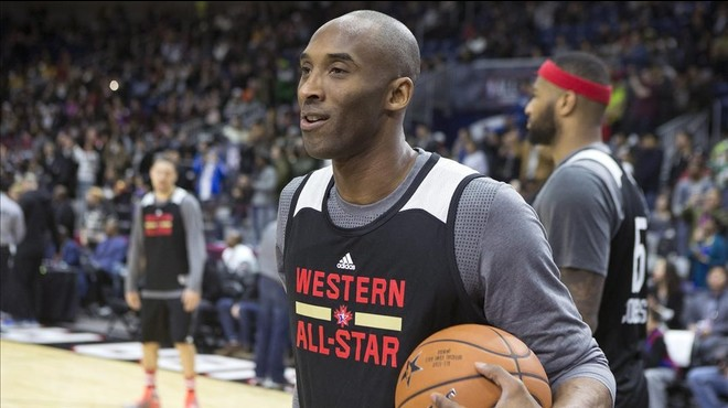 Kobe Bryant, en el entrenamiento del equipo del Oeste, previo al All-Star