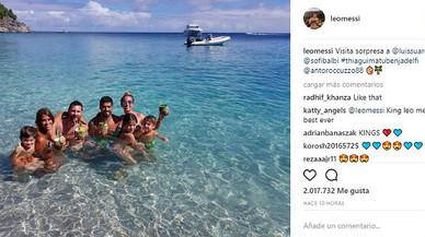 Leo Messi, lluna de mel en família i amb sorpresa