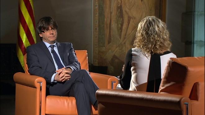 L'entrevista amb Puigdemont lidera amb 768.000 teleespectadors