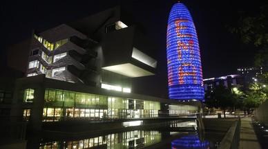 La torre Agbar, iluminada para apoyar la candidatura de la Agencia Europea del Medicamento