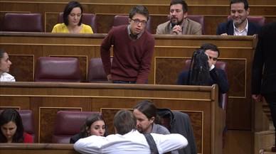 Errejón, desplaçat de l'escó a la fila del darrere