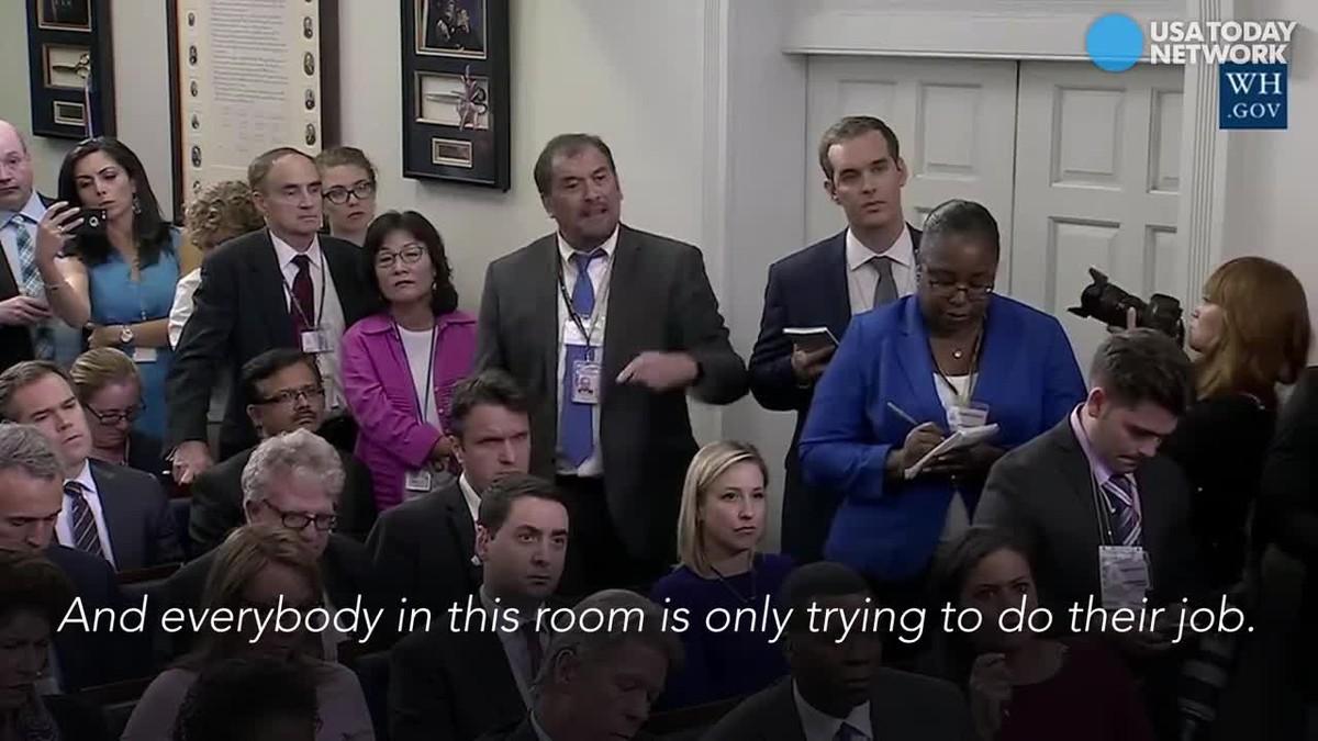 """""""¡Vinga va!"""". Així s'encara un periodista amb la portaveu de la Casa Blanca en plena roda de premsa"""