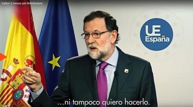 Òmnium lanza un vídeo con frases de Rajoy y Santamaría para incentivar la participación el 1-O