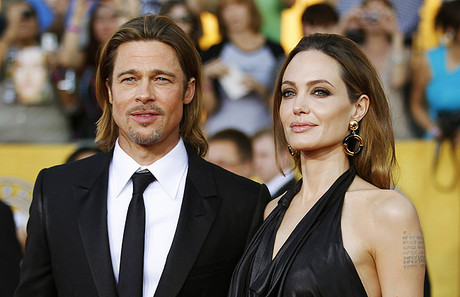 Brad Pitt y Angelina Jolie, en Los ngeles, en enero.