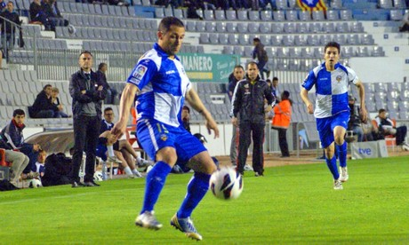 Collantes, en la foto, fue el autor del nico gol del Sabadell.
