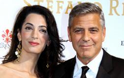 Goeroge Clooney y su inminente esposa, Amal Alamuddin