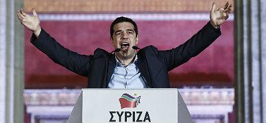 Tsipras, el pasado domingo, tras saberse ganador de las elecciones griegas.