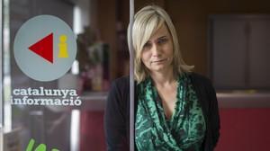 Mònica Terribas, en los estudios de Catalunya Ràdio